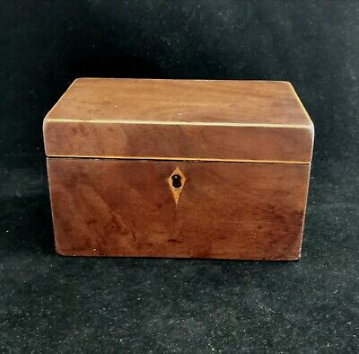 Antique Victorian two division interior tea caddy