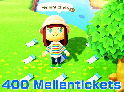 ***Animal Crossing New Horizons- 400 Nook Meilentickets*** (Nook Miles Tickets)