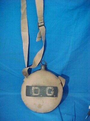 """1880s US Army INDIAN WARS Original CANTEEN w STRAP Marked """"D.G."""""""