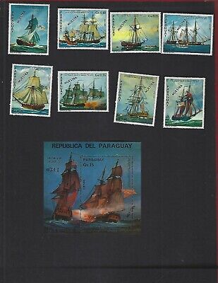 "Paraguay sc#1616-24 (1975) Complete MNH  ""Muestra"""