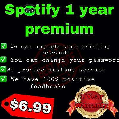 Spotify 1 Year   Upgrade Your Existing Account To Premium Account   WORLDWIDE