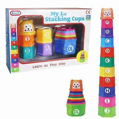 Baby Educational Toys - My 1st Stacking Cups - Age 12 Months