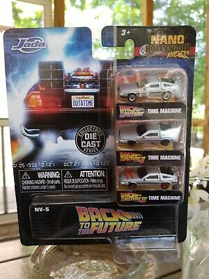 Back to the Future 1, 2 & 3 Nano Hollywood Rides Jada Delorean Die Cast Cars Set