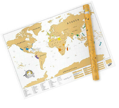 Extra Large World Scratch Map ? Personalized World Travel Map ? Scratch Off