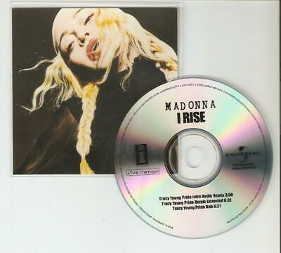 "Madonna ""I Rise"" Tracy Young Remixes 3 Remix New Universal Cd Promo"