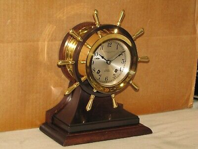 "Chelsea Antique Ships Bell Clock~3 3/4"" Mariner Model~1963~Restored"