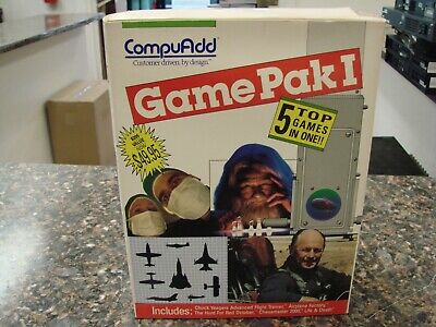 CompuAdd Game Pak I , 5 Top Games in One IBM PC & Compatibles