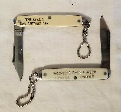 Worlds Fair And Alamo Pocket Knives