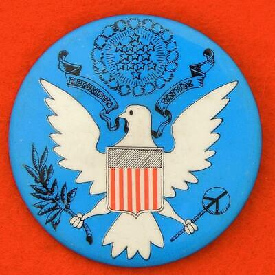 YIPPIE Counter Inaugural Protest Cause PINBACK Button 1968-69 Anti-Nixon Peace