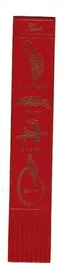 Knots. Red Leather English Bookmark.