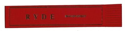 Ryde. Red Leather English Bookmark.