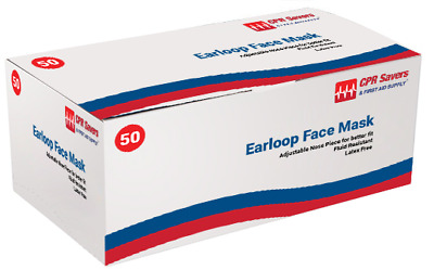 Procedure Face Mask with Ear Loop, Box of 50