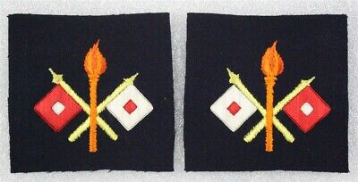 Army Chevron: Signal Corps Private pair, c.1898 - embroidered on felt