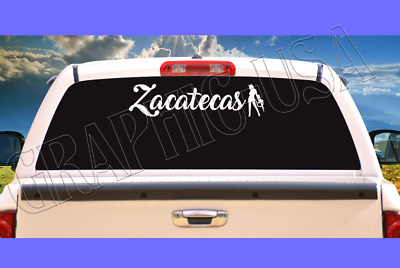 "Zacatecas Evil Girl  White Decal For Window Truck/Car 24""  😈"