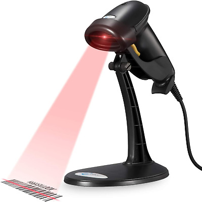 Usb Automatic Barcode Scanner Scanning Bar Code Reader With Hands Free Stand