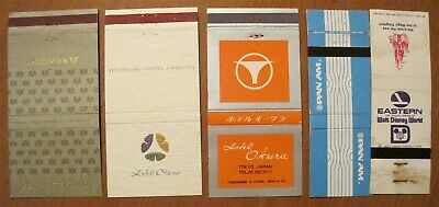 Japan Hotels - Usa Airlines 5 Matchbook Covers