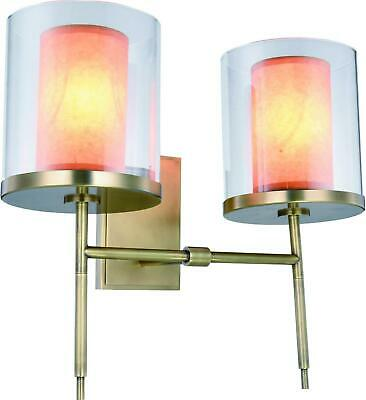 Bradford Wall Sconce French 2-Light 1-Light 3-Light Bronze Gold Metal Glas