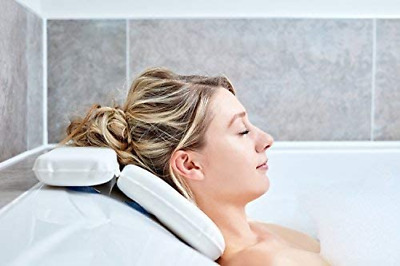 Bath Pillow | Best Bath Pillows For Head And Neck With 7 Suction Cups | Luxury &