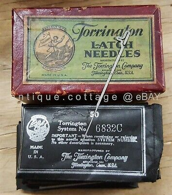 antique TORRINGTON LATCH NEEDLES unused IN FULL BOX sewing machine