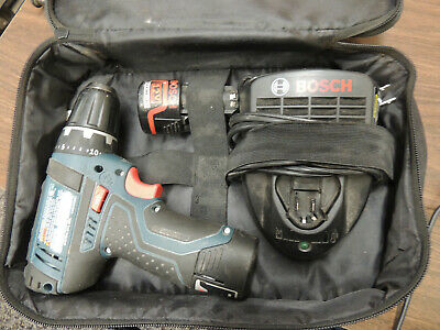 "Pre-Owned Bosch 3/8"" Chuck Cordless Drill Driver W/2 Batteries & Charger 12V"