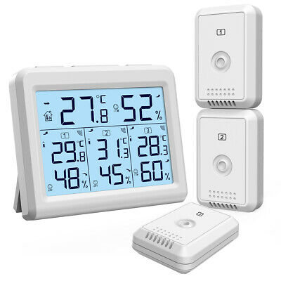 100m Outdoor Indoor Room Digital LCD Thermometer Hygrometer Temperature Humidity