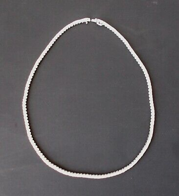 "Sterling Silver & CZ Necklace 18"" Long"