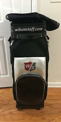 "Rare Wildon Staff Huge Oversize Rolling Bag w/Cover 42""Hx20""W"