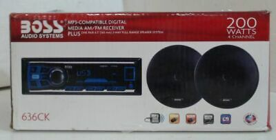 NEW OPEN BOX Boss Audio 636CK Single-din In-dash Receiver System $128 - READ
