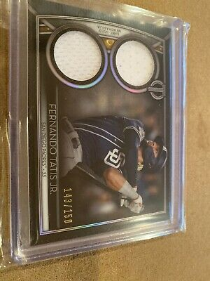 2020 Topps Tribute Fernando Tatis Jr Dual Relic /150 San Diego Padres Game Used