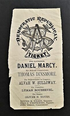 1877 antique POLITICAL REPUBLICAN campaign New Hampshire TICKET Daniel MARCY