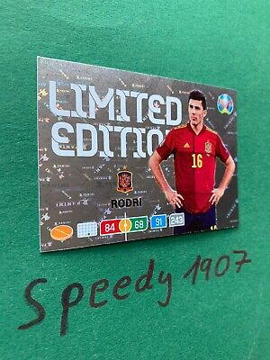Panini Adrenalyn Euro 2020 Limited Edition Rodri Espania 20 Not Road UEFA