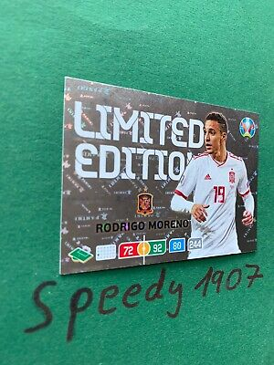 Panini Adrenalyn Euro 2020 Limited Edition Moreno Espania 20 Not Road UEFA