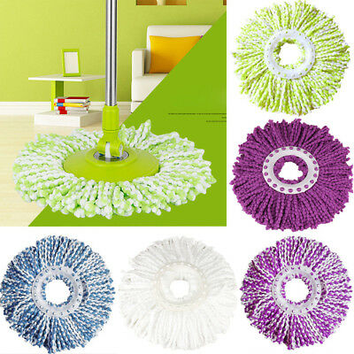 Replacement 360°Rotating Head Magic Microfiber Spinning Home Floor Mop Head UK