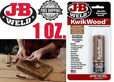 J-B Weld 8257 - KwikWood 1 oz. Wood Repair Epoxy Putty FREE SHIPPING! NEW ITEM!