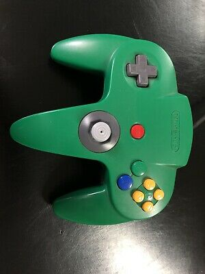 Nintendo 64 N64 Controller - Green - AUTHENTIC | ORIGINAL | OFFICIAL | TESTED!