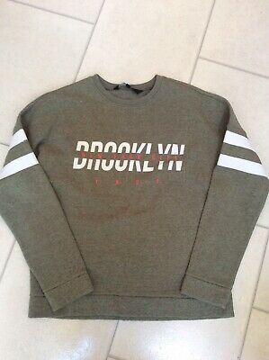 Girls NEW LOOK Sweatshirt Age 14-15 Greeny Grey Colour