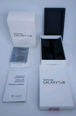 Samsung Galaxy S3 white Empty Box and manuals Only