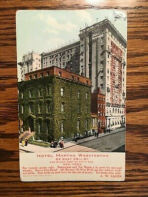 Hotel Martha Washington Post Card, New York City, Unposted