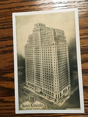 Hotel Lincoln Post Card, New York City, Unposted