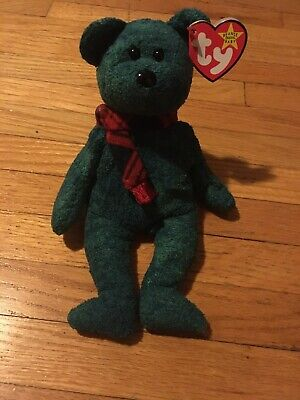 Ty Beanie Babies Wallace Green Bear