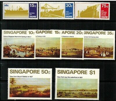 Singapore #126-128 Complete Set 1970 MH