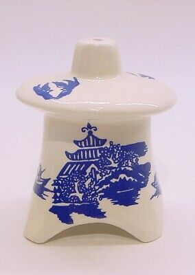 Louise's Old Things Pagoda Funnel Pie Bird Vent * Blue Willow Pattern
