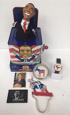 Democratic Party Clinton Obama Lot Toys Magnets Watch (6)