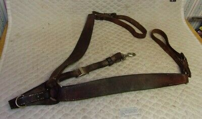QUALITY - Western Harness Leather SHOW Breastcollar - Full/Average - NO RESERVE