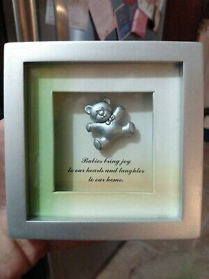 Picture Frame With Bear Inside....  Nursery Decor