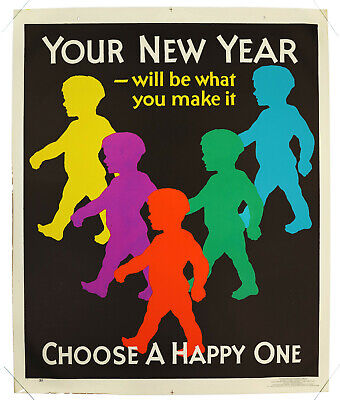 YOUR NEW YEAR…, Original Mather Incentive Poster, USA 1929