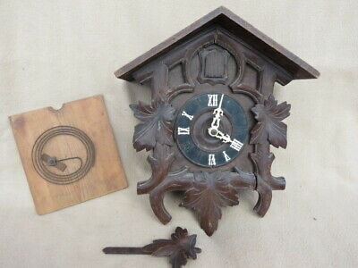 Large Antique Black Forest Cuckoo Clock For Spares Or Repair