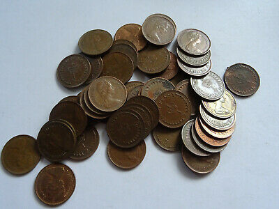 1/2 new penny     approx - 45 coins