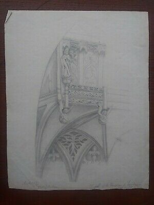 Interior Of Church Study Sketch