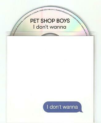 "Pet Shop Boys ""I Dont Wanna"" Upfront Brazilian Cd Promo 5 Remix Cd Promo"